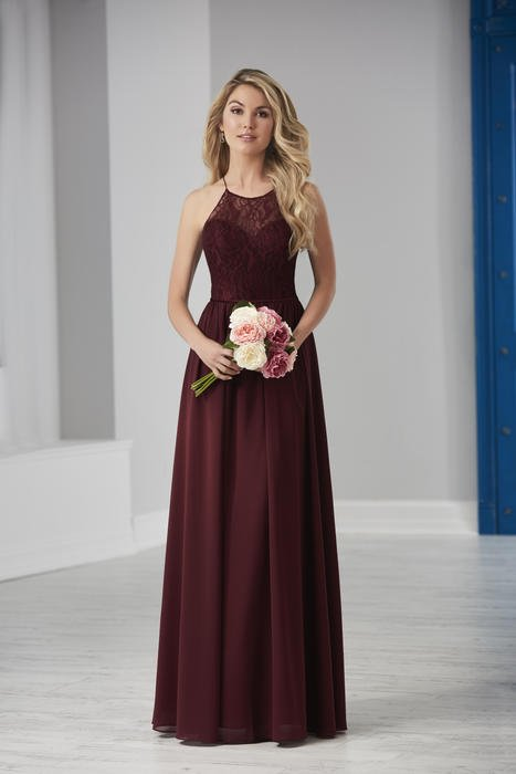 House of Wu - Illusion Halter Bridesmaid Gown