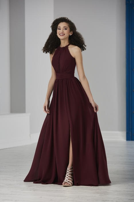 House of Wu - Halter Neck A-Line Bridesmaid Gown