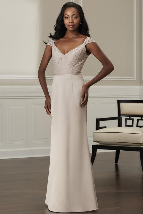 House of Wu - V-Neck Lace & Chiffon Bridesmaid Gown