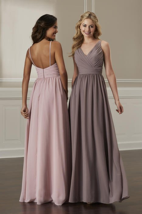House of Wu - V-Neck Ruched Bridesmaid Gown