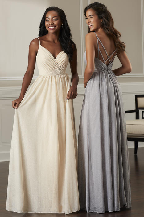 House of Wu - V-Neck Spaghetti Strap Bridesmaid Gown