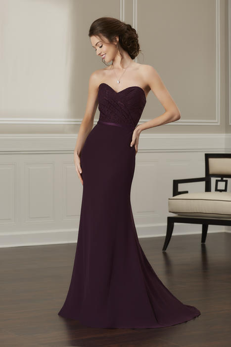 House of Wu - Strapless Sweetheart Ruched Bridesmaid Gown