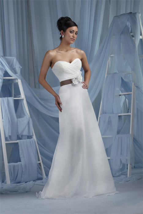 Ashdon - Long Strapless Ruched Satin