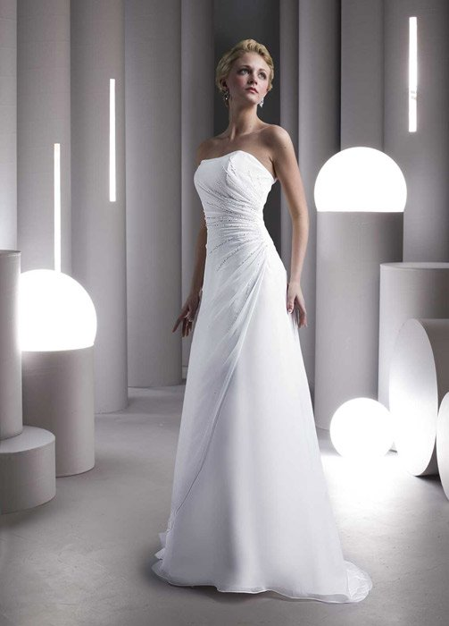 Ashdon - Strapless Beaded Ruched Chiffon