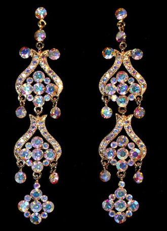 Jim Ball Crystal Earrings CE460_ABG
