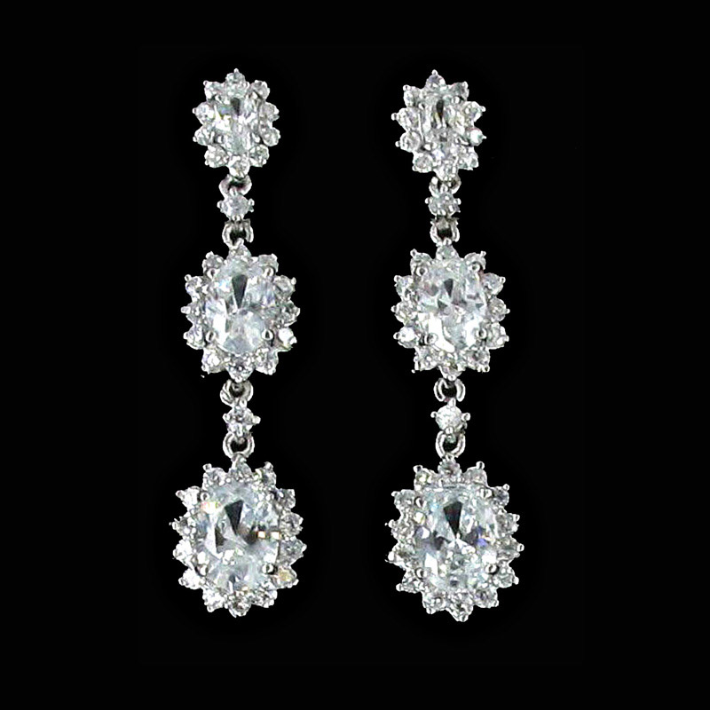 Jim Ball Cubic Zirconia Earrings CZ174