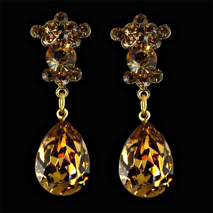 Jim Ball Crystal Earrings