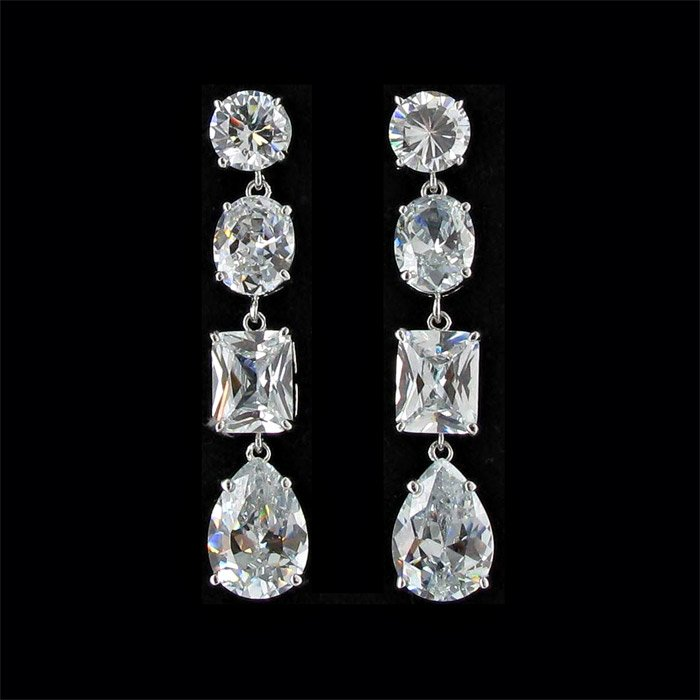 Jim Ball Cubic Zirconia Earrings
