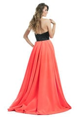 7038 Black/Hot Coral back