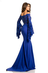 7244 Royal/Nude back