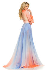 8005 Coral/Periwinkle Ombre back