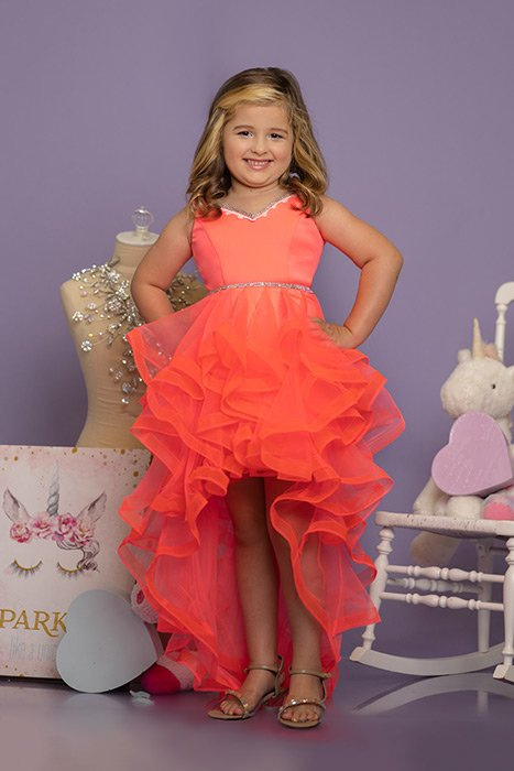 Sugar Kayne Little Girls Fun Fashion Girls High Low Dress