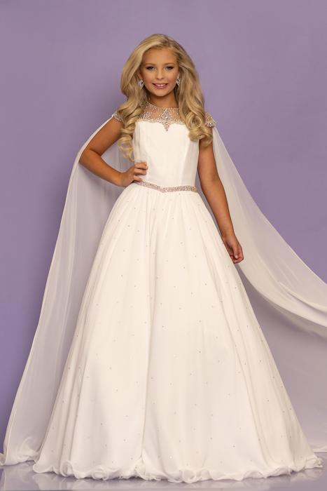 Sugar Kayne Girls Pageant Dress W/ Cape - WINNING DRESS
