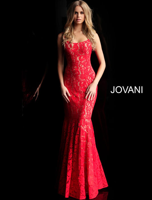 Jovani - Beaded Lace Gown