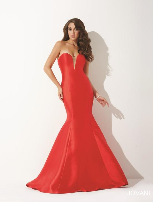 Jovani - Strapless Satin Sweetheart Mermaid