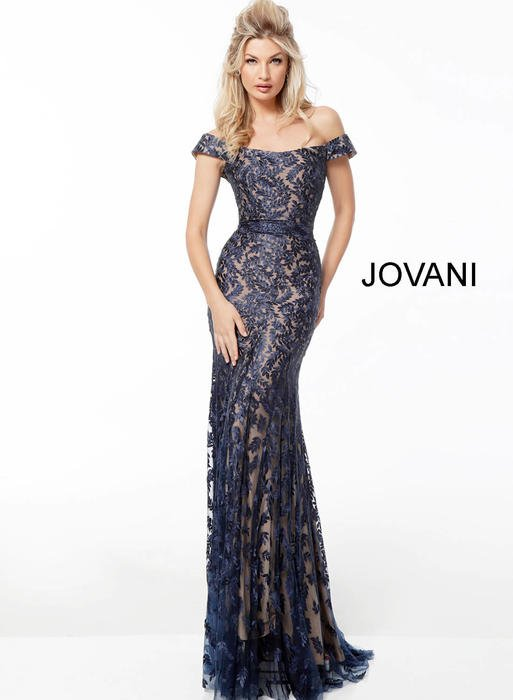 Jovani - Embroidered Beaded Gown