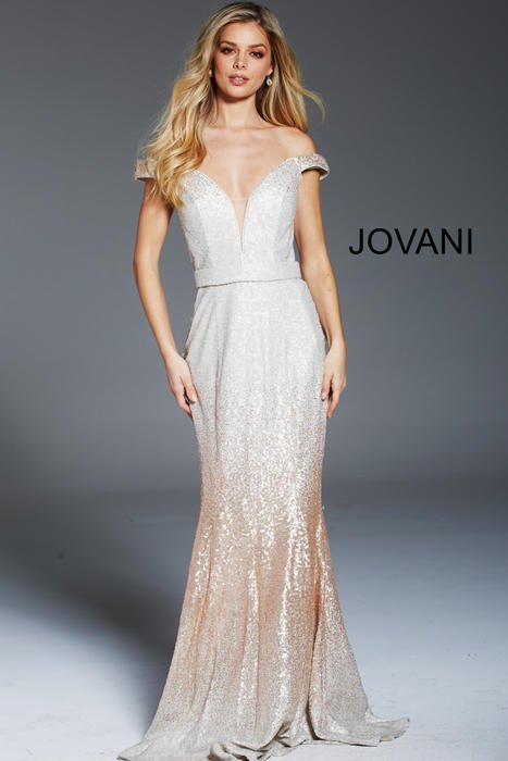 Jovani - Sequin Gown Off Shoulder