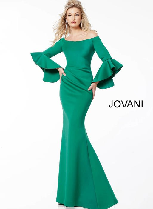 Jovani - Long Sleeve Off Shoulder Gown
