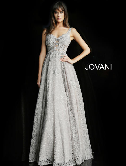 Jovani - Crochet Ball Gown Beaded Waist