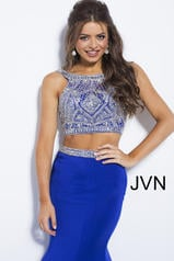 JVN41441 Royal/Silver detail
