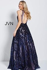 JVN60641 Navy/Nude back