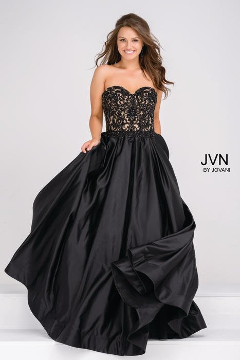 Jovani - Embroidered Sweetheart Ball Gown