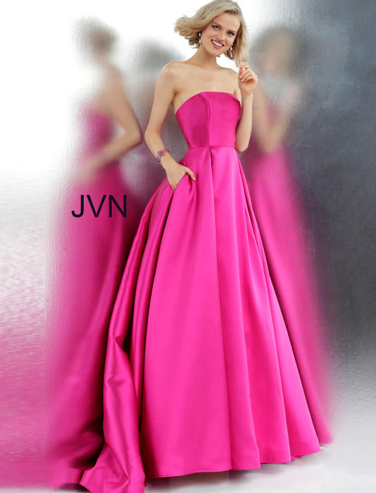 Jovani - Satin Strapless Ball Gown