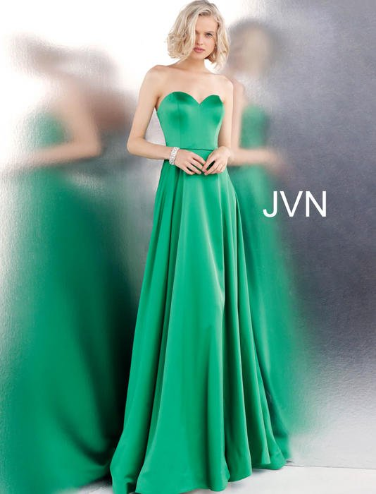 Jovani - Strapless Sweetheart Satin Gown