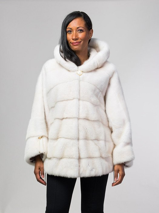 Pearl Mink Hooded Jacket
