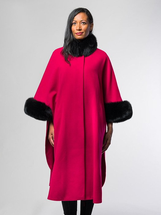 Cape With Fox Collar & Cuffs