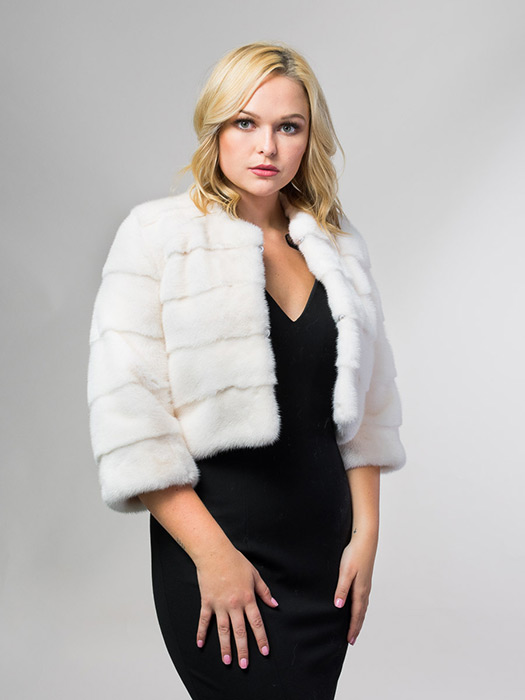 White Mink Bolero Jacket