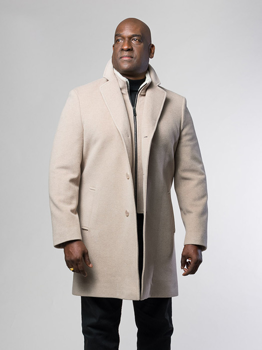 Cashmere Jacket With Shearling Collar