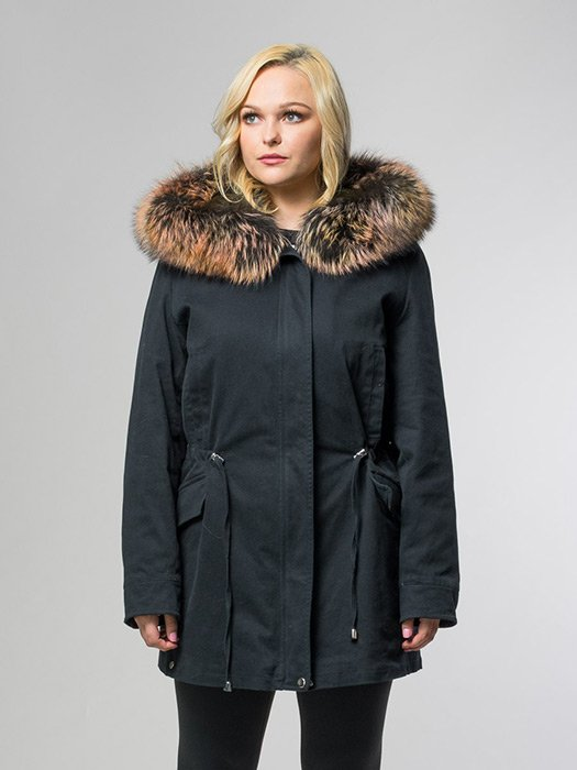 Fox Trim Hood Parka