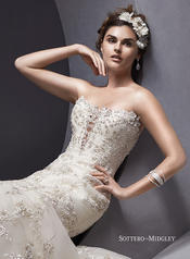 Maddalena by Sottero and Midgley Ivory/Light Gold Accent detail