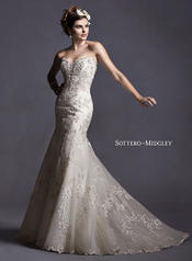 Maddalena by Sottero and Midgley Ivory/Light Gold Accent front
