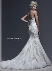 Gintare by Sottero and Midgley Ivory/Pewter Accent back
