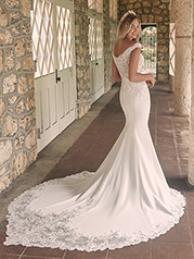 21MT416 Ivory Gown With Nude Illusion-pictured back