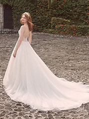 21MS356 Ivory Gown With Ivory Illusiion back