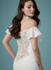 9MW890 Ivory gown with Nude Illusion detail
