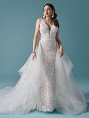 20MT740 Ivory Over Blush (gown With Nude Illusion) (pictur front