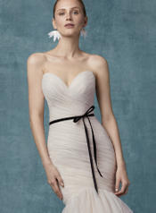9MS108 Blush With Black Velvet Ribbon Belt detail