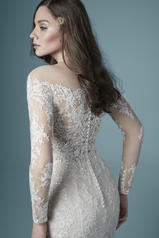 20MS243 Ivory over Champagne gown with Nude Illusion back