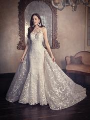 DT9MS905 All Ivory gown with Ivory Illusion front