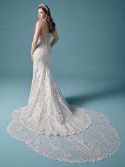 20MS683 Ivory Over Misty Mauve (gown With Nude Illusion) back