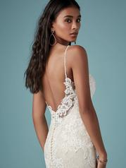 9MC882 Ivory gown with Ivory Illusion detail