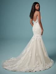 9MC882 Ivory gown with Ivory Illusion back