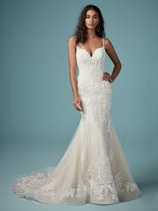 9MC882 Ivory gown with Ivory Illusion front