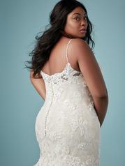 9MC882AC Ivory gown with Ivory Illusion detail
