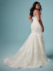 9MC882AC Ivory gown with Ivory Illusion back