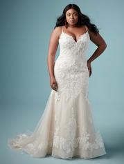 9MC882AC Ivory gown with Ivory Illusion front